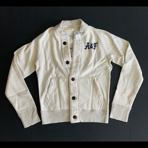 Brand New A&F Cardigan Embroidered sweater